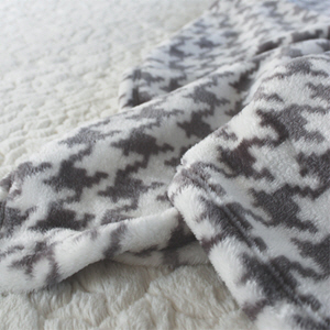 hound tooth check blanket_gray