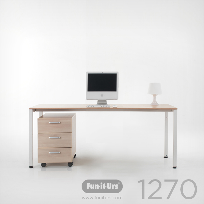 F1DESK 1270 NATURAL_WHITE