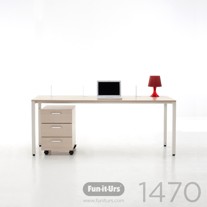 [OUTLET]F1DESK 1470 NATURAL_WHITE