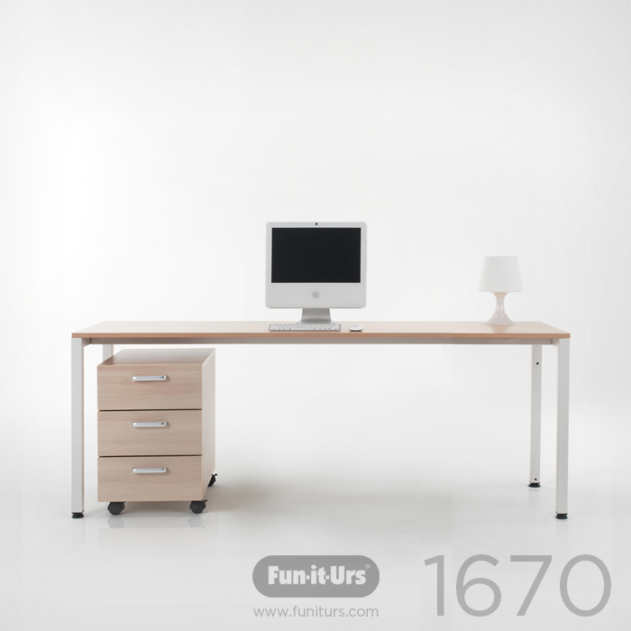F1DESK 1670 NATURAL_WHITE