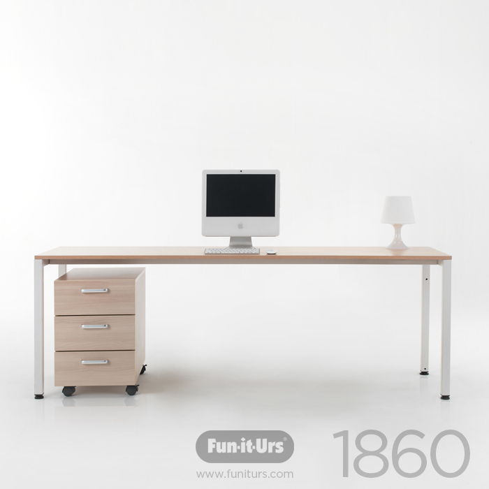 F1DESK 1860 NATURAL_WHITE