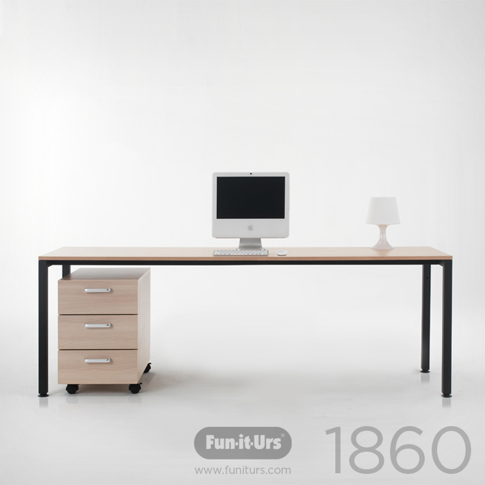 F1DESK 1860 NATURAL_BLACK