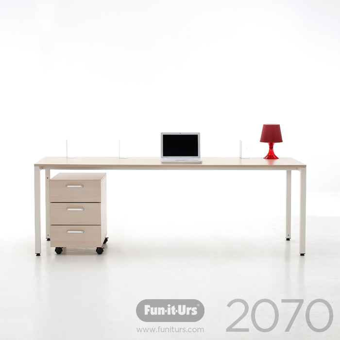 F1DESK 2070 NATURAL_WHITE