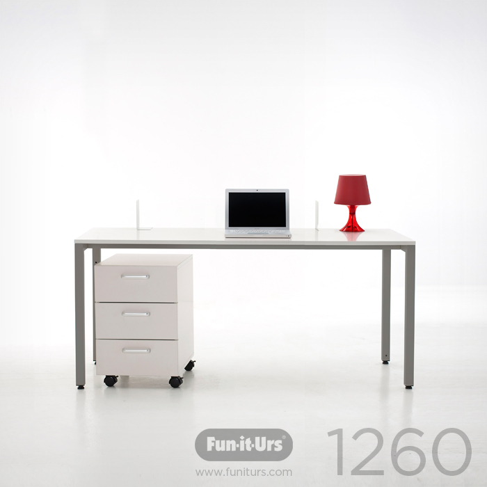 F1DESK 1260 WHITE_GREY