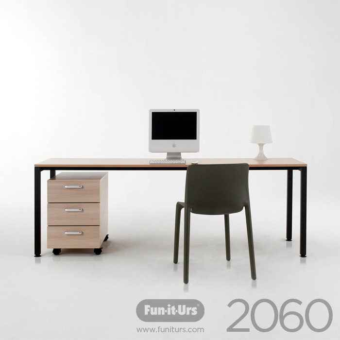 F1DESK 2060 NATURAL_BLACK