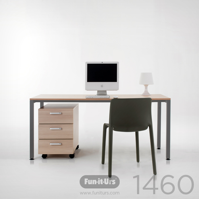 F1DESK 1460 NATURAL_GREY