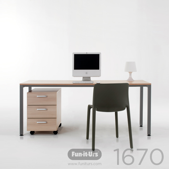 F1DESK 1670 NATURAL_GREY