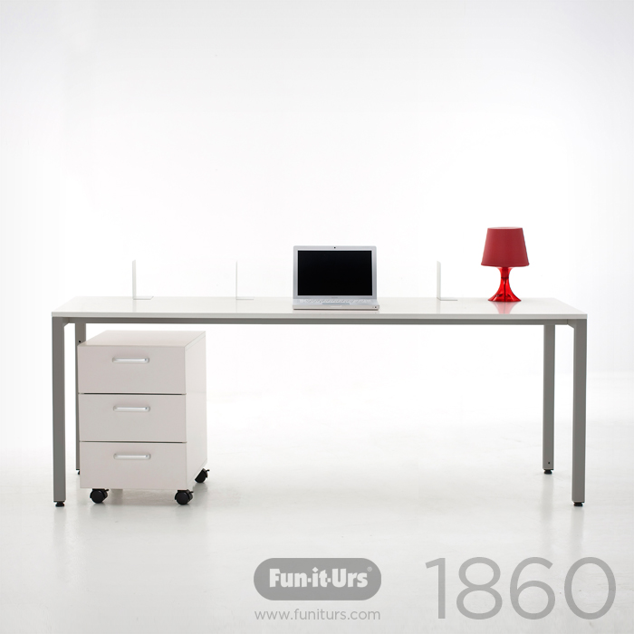 F1DESK 1860 WHITE_GREY