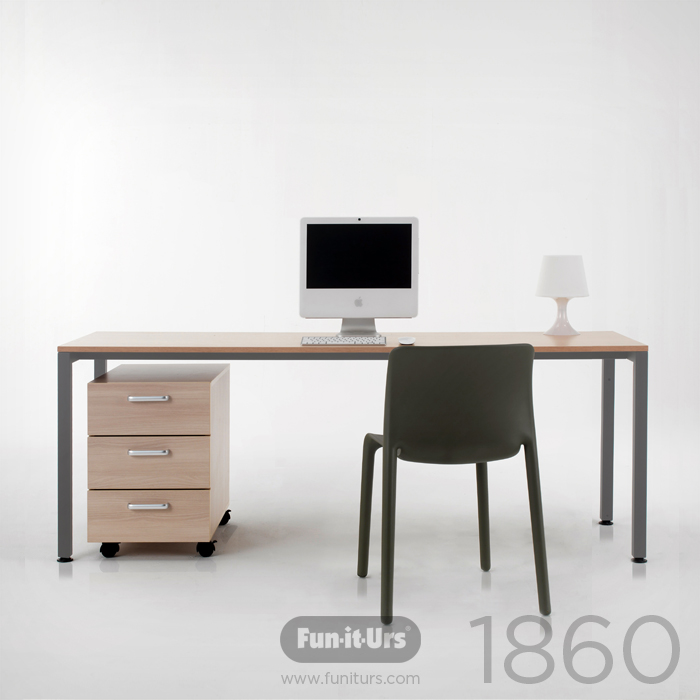 F1DESK 1860 NATURAL_GREY