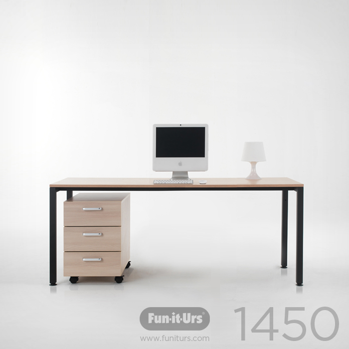 [OUTLET]F1DESK 1450 NATURAL_BLACK
