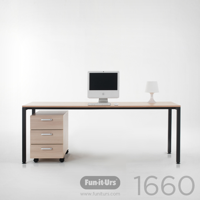[OUTLET]F1DESK 1660 NATURAL_BLACK