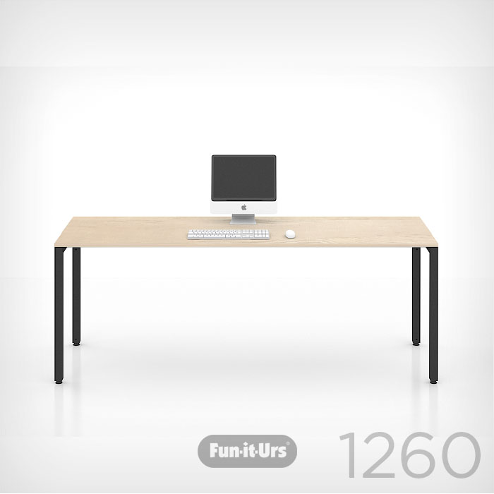 F1DESK 1260 NATURAL_BLACK