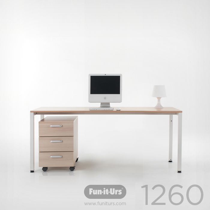 F1DESK 1260 NATURAL_WHITE