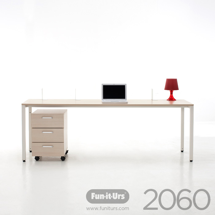 F1DESK 2060 NATURAL_WHITE