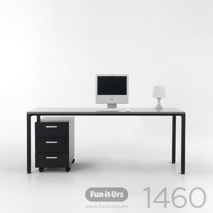[OUTLET]F1DESK 1460 CON'C_BLACK